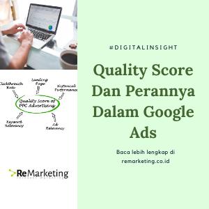 Quality Score Dan Perannya Dalam Google Ads